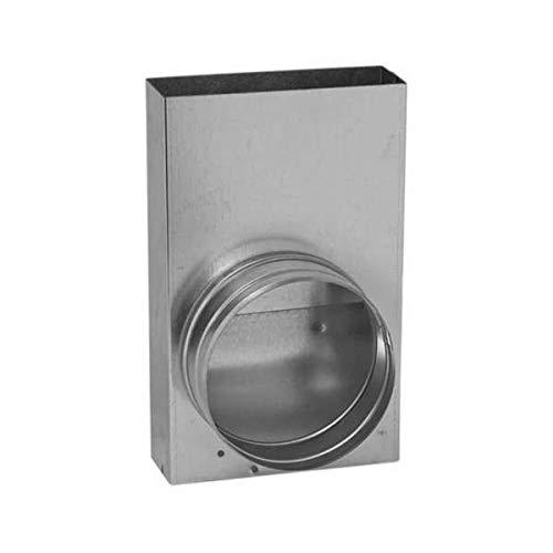 150 x 50 mm Flachkanal zu Ø 150 mm rund Übergangsstück L Form Lüftung