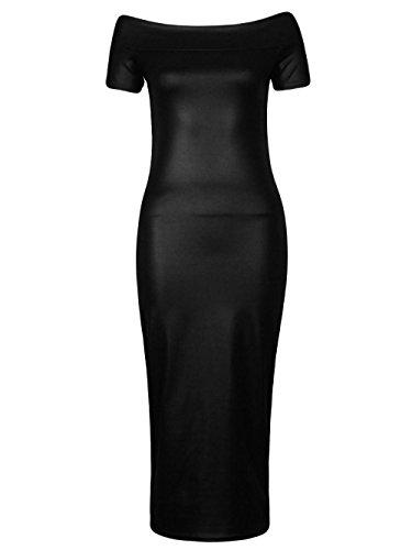 Fast Fashion - Robes De Wetlook Plaine Célébrités Inspiré Dans Des Styles Différents - Femmes Encolure bateau midi