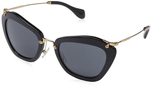 Miu Miu Damen 0MU10NS 1AB1A1 55 Sonnenbrille, Schwarz (Black/Gray),