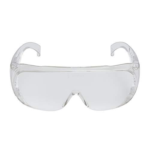 3M VisitorC Schutzbrille für Brillenträger, leichte Elektrowerkzeugarbeiten, Schutz gegen Splitter, 99.9% UV-Schutz, Klare Polycarbonatscheiben