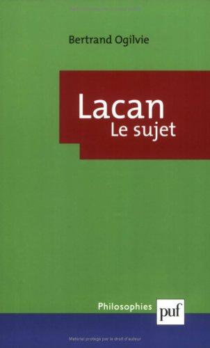 Lacan : La formation du concept de sujet (1932-1949)
