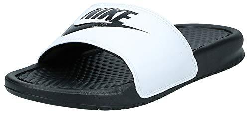 Nike Benassi Jdi, Chanclas Unisex Adulto, Multicolor White/Black/Black, 38.5 EU