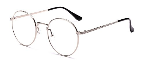 Outray Retro runde Metall klare Linse Brille 2136c4 Silver Frame