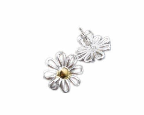 Skyllc® 925 joyería plata pendientes mujeres crisantemo