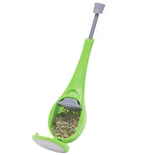 Chowcencen Drücken Sie Tee-Food Grade Kunststoff-Grün Tee-Tee-Kaffee-Tee-Sieb-Werkzeug
