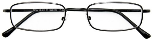 I NEED YOU Lesebrille Club M / +2.25 Dioptrien / Antik Silber