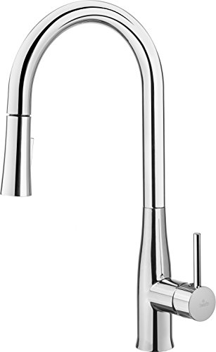Succsale High Quality Kitchen Sink Mixer Chrome Extendable single-lever mixer tap High Pressure Mixer Tap Fittings–New Model: Lukrecja + + + Best Seller + + +