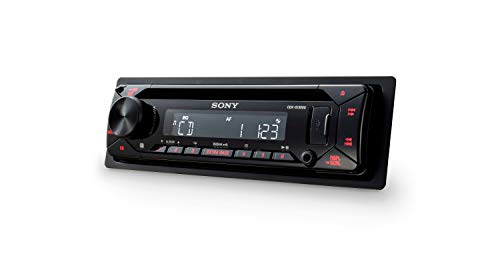 Sony CDXG1300U.EUR Autoradio (CD-Player, USB/AUX-Eingang, 4x 55 W, Extra Bass) Rot