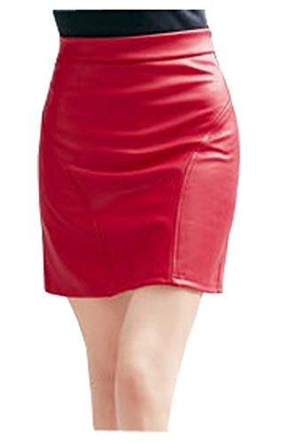 lotus-instyle-jupe-en-similicuir-de-faux-cuir-de-femmes-jupe-courte-red-m
