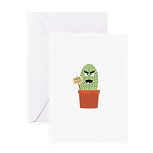 Cartoon Charakter Maskottchen (CafePress–Angry Kaktus mit Free Hugs Grußkarten–Grußkarte, Note Karte, Geburtstagskarte, innen blanko, glänzend)