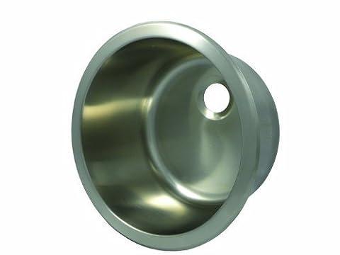 Opella 14127.046 12 Diameter Round Bar Sink, Brushed Stainless Steel by Opella (12 Round Bar Sink)