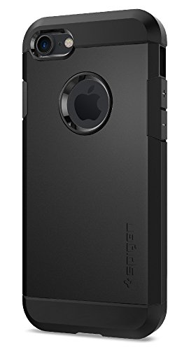 Coque iPhone 7, Spigen [Tough Armor] HEAVY DUTY [Noir] Slim Dual Layer Protective Housse Etui Coque Pour iPhone 7 (2016) - (042CS20491)
