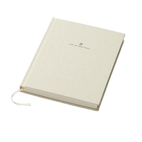 Graf von Faber-Castell 188623 Buch mit Leineneinband A5 chamois (Silber-chamois)