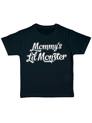 clothinx Kinder Bio T-Shirt Mommys Little Monster Schwarz Gr. 104