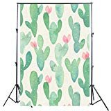 KonPon 5x7ft Cactus Floral Backdrops for Photography Baby Backdrop for Pictures Photo Props Baby Shower Background KP-267