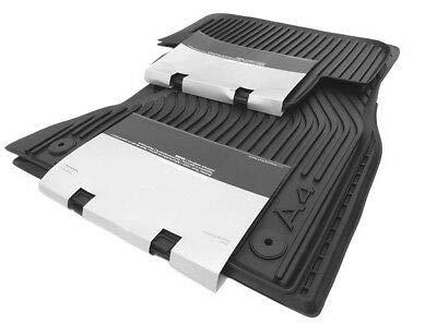 Original Audi Ersatzteile Audi A4 8K Gummi Fußmatten 4-teilig, Original Zubehör, vorn+hinten (Audi A4 Leichter)