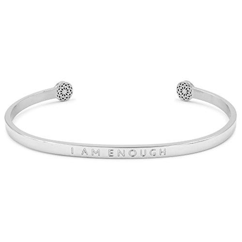 Simple Pledge - I am Enough - Blind - Armreif in Silber mit Gravur für Damen