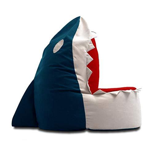 LRSFY Fun Shark Sitzsack Kindersofa Gefüllt Sitzsack Kinderzimmer Loungesessel Oxford Stoffboden Abnehmbarer Bezug, 2 Farben (Color : Blue)