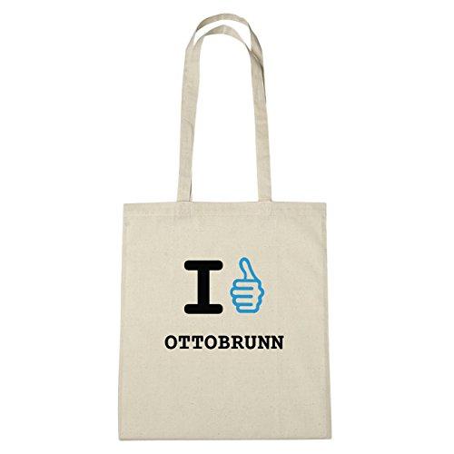 JOllify Otto Brunn di cotone felpato B1601 schwarz: New York, London, Paris, Tokyo natur: I like - Ich mag