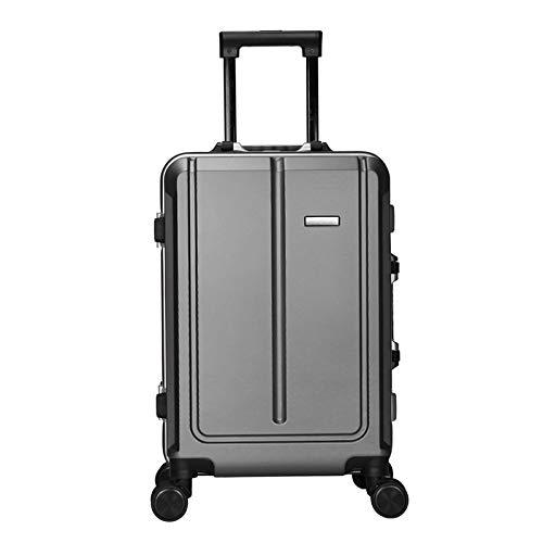 XIEPEI Mehrzweck-Gepäckbox PC Aluminiumrahmen Business-Passwort-Box Universal-Rad Trolley Dunkelgrau 55cm