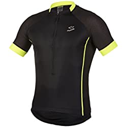 Spiuk Race Maillot, Hombre, Negro / Amarillo, XXL