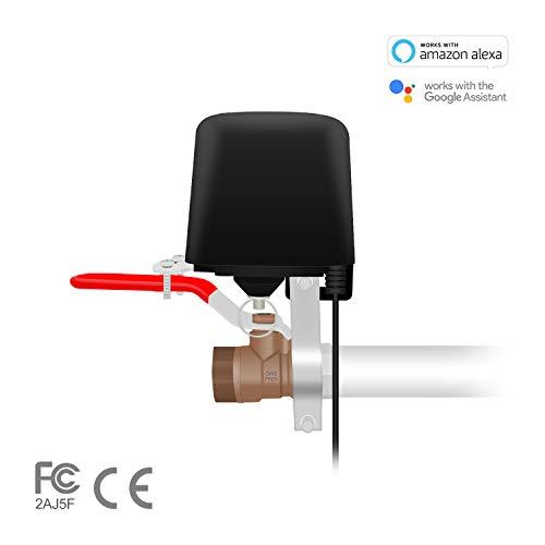 Jinvoo WiFi-Ventilsteuerung, Smart WiFi Steuerung Wasser/Gasventil SM-AW713, Anwendungsprogramm iOS/Android, Arbeite mit Alexa und Google Home, MEHRWEG