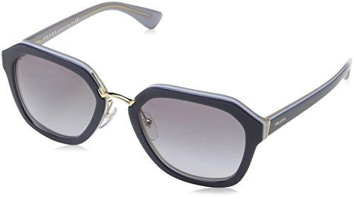 Prada Unisex PR25RS Sonnenbrille, Blau (Opal Grey/Azure UEE3E2), One size (Herstellergröße: 55)