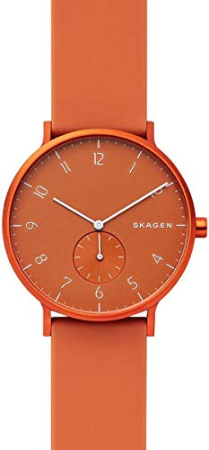 Skagen Unisex Adult Analogue Quartz Watch with Silicone Strap SKW6511