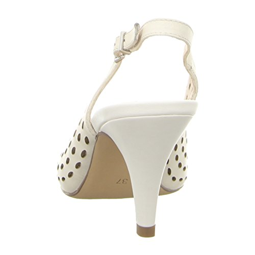 Tamaris Schuhe 1-1-29606-28 bequeme Damen Sandalette, Sandalen, Sommerschuhe für modebewusste Frau, Offwhite