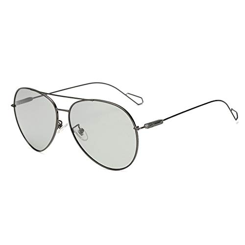 DING-GLASSES Sonnenbrille Driving Pilot Sonnenbrille Fashion Chameleon Photochrome Verfärbung Farbwechsel Polarisierte Herren Sonnenbrille Gold Wire Frame Dünne Beine Trend Sonnenbrille