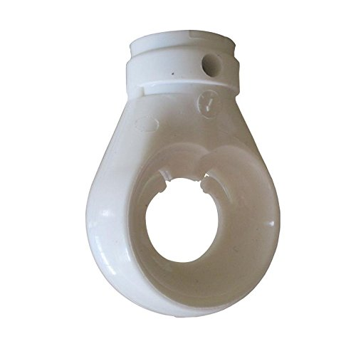Preisvergleich Produktbild Kugelöse Kugelkopföse für Markise Kunststoff Weiß 12 mm Bohrung Öse für Markise mit Kugelhaken