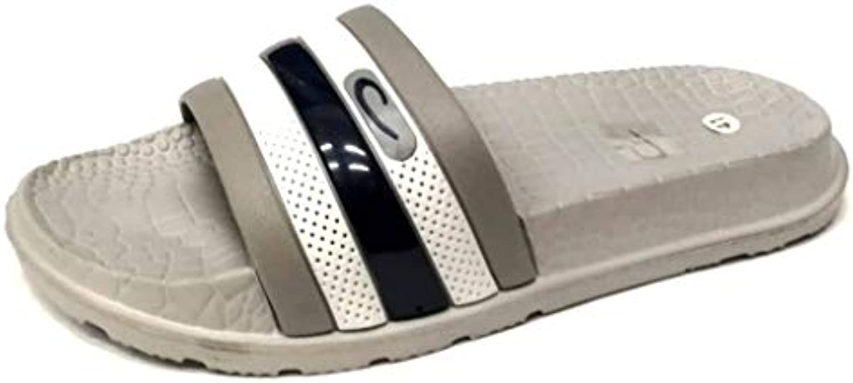 dema - Zapatillas de Estar por casa de Sintético para Hombre Gris Gris 40 EU -