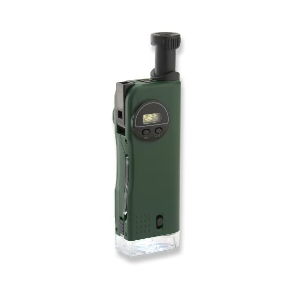 Carson CP-11 X-Scope 7-in-1 Exploration Tool Featuring Microscope and Telescope, Green