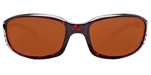 Costa Del Mar Sonnenbrille Zane, Kunststoff, Gestell Schildkröte, polarisiert, bernsteinfarben 580