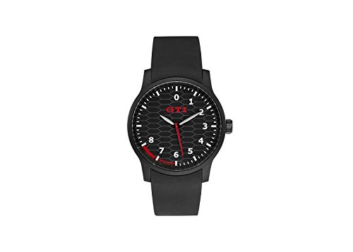 VW GTI Armbanduhr in Schwarz/Rot mit GTI Waben - 5KA050830