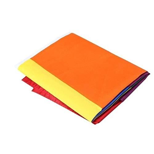 OIYINM77 Regenbogen-Flaggen-Ausgangsdekoration des Polyester-Bunte Flaggen freundlich Textilbanner