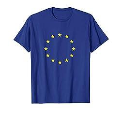 EU Flagge Europäische Union Sterne Fahne Europa Symbol T-Shirt