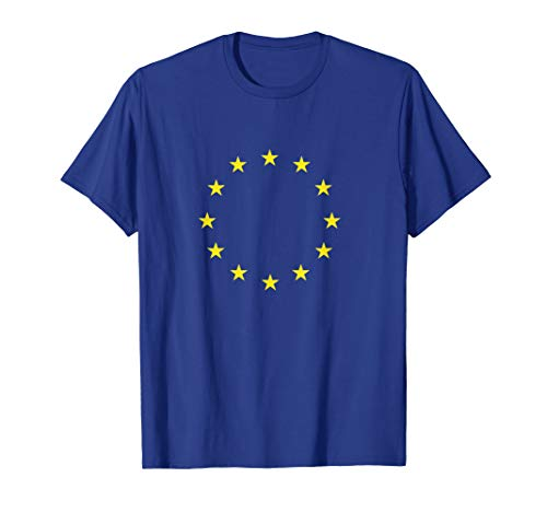 EU Flagge Shirt mit Europäische Union Fahne Symbol