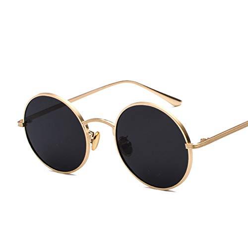 Taiyangcheng Vintage Runde Sonnenbrille Frauen Männer Retro Steampunk Sonnenbrille Weiblich Männlich Metallrahmen Brillen Uv400,C2