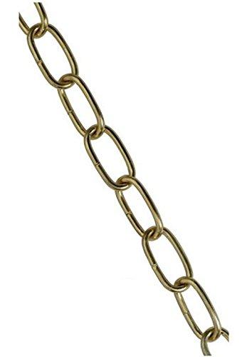 Lampenkette Eisen vermessingt 19 x 7 mm Ø3 mm 1 Meter Leuchtenkette Dekokette Kette