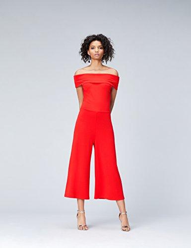 FIND Damen Bardot-Jumpsuit Rot (Racing Red)