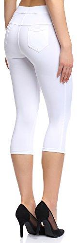 Merry Style Damen Leggings 127-SP Weiß