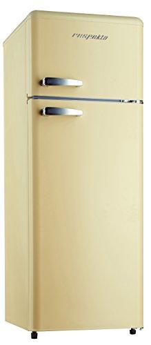 Respekta KG146 Réfrigérateur combiné au style rétro Crème brillant A++