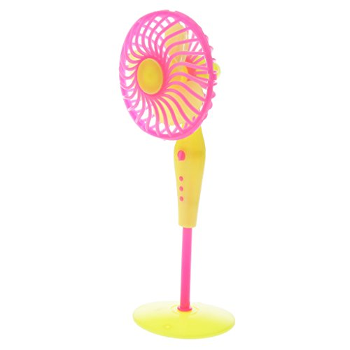 Sharplace Plastica Mini Ventilatore Fan da Pavimento per Barbie Casa delle Bambole Decorazine Mobili Accessori, Colore Casuale