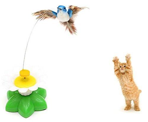 baleba Vögel Fliegen Vögel Elektrische Spielzeug Vergnügen Katze Spielzeug Interaktive Kleine Spielzeug (ohne Akku)