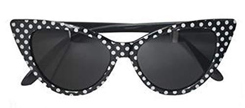 Labreeze Sonnenbrille, gepunktet, Retro, Vintage-Stil, 50er-/60er-Jahre-Kostüm