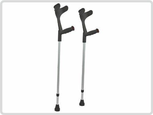 Unterarmgehstützen, schwarz Unterarmgehstütze 1 Paar (links und rechts) Leichtmetall (sehr leicht)