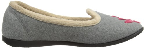 Padders - Cheer, Pantofole Donna grigio (Grey)