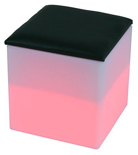 LED Siège boîte de cube 40 cm multicolore RGB 16 couleurs sans câble avec accumulateur et télécommande Etanche et flottant IP65 Extérieur Guirlande lumineuse lampe mood decoration Luminaire Design