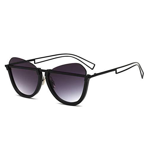 Taiyangcheng Polarisierte Sonnenbrille Sonnenbrille Cat Eye Sonnenbrille Frauen Vintage Half Frame Gradient Hohl Beine Sonnenbrille Männer Damen Brillen Oculos,A3